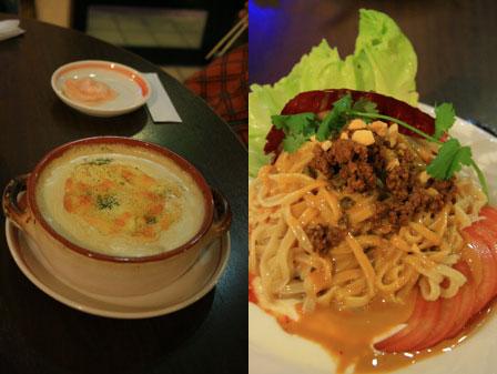海月食堂:グラタン+冷製坦々麺