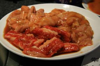 焼肉一龍:カルビ+コブクロ+赤セン
