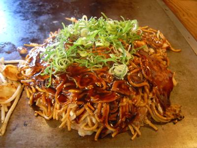 高砂:モダン焼き二ツ玉(豚+タコ)